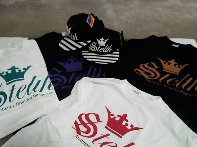 """the stelth crown Tee and Snap back """"OG"""" is back and the shelf  and shipping daily."""