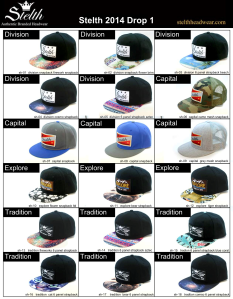 Stelth headwear 2014 drop 1