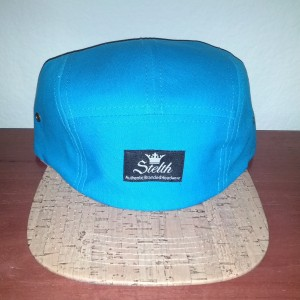 blue cork brim 5 panel